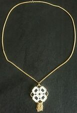 White Gold Pendant Necklace Pin VALENTINE'S DAY GIFT