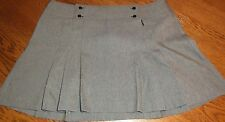 Size 12 To The Max Mini Skirt Gray Pleated New with Tags