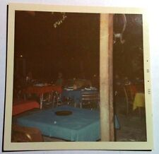 Vintage 60s Square Photo Tourist Trap Restaurant In The Bahamas