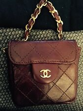ORiGINAL CHANEL mini Tasche Micro bag 2.55 vintage braun Leder Top Zustand