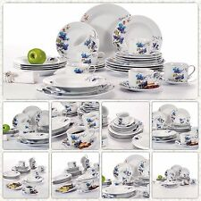 Floral Decal Round Porcelain Crockery Ceramic Dinner Service Sets 30PCS