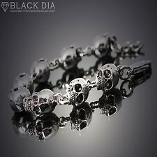 Guntwo Korean Mens Fashion Bracelets - Biker, Hip Hop Skull Bracelet B5244 UK