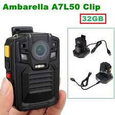 32GB HD Police Force Tactical Body Worn Camera IR Night Cam 5~8 hours 140°1296P