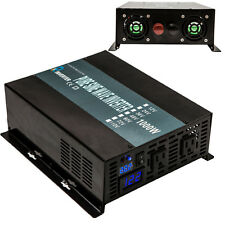 Power Inverter 1000W Pure Sine Wave Inverter 24V DC to 120V AC Run A Fridge LED