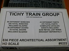 Tichy Train Group HO #8222 (836 Piece Architectural Assortment) Lots of items