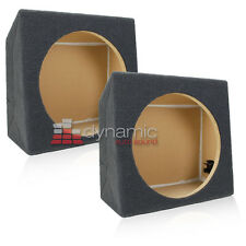 """Two (2) Single 12"""" Sealed Solid MDF Under Seat Subwoofer Sub Box Enclosure New"""