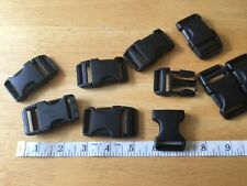 "Single New 1"" Duraflex Black Plastic Buckles / Stealth"