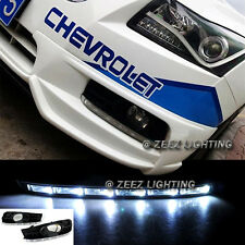 Exact Fit LED Daytime Running Light DRL Lamp Kit Chevy Cruze With Fog 2009 09-14