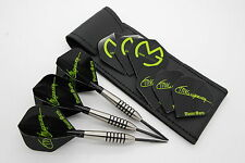 21g tungsten darts set 'SHORTIES' 3 SETS of MVG flights, mini ali stems, case!