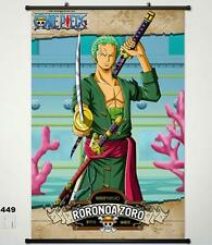 One Piece Roronoa Zoro Home Decor Anime Japanese Poster Wall Scroll Christmas 9
