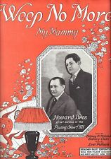 """Willie and Eugene Howard """"PASSING SHOW OF 1921"""" Lew Pollack 1921 Sheet Music"""