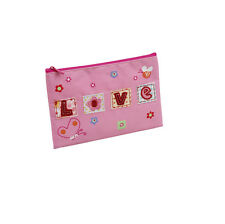 10 x Job Lot Girls Pink Love Dance Gift School Pencil Cases PC-1248 By Katz