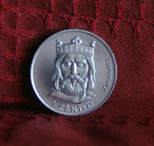 2002 Andorra 1 Centim Unc World Coin KM176 Charlemagne Europe uncirculated