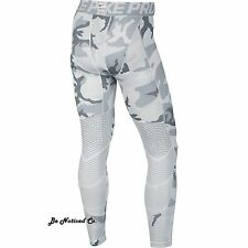 Nike Pro Hypercool Print Mens Tights XL White Gray Camo Gym Training Running New