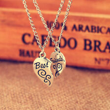 2PC Silver Plated Charm Best Friend Flower Women Chain Pendant Necklace 2016