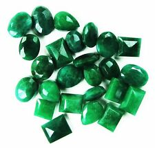 200 Ct/25 Pcs Sensational Best Quality Natural Mixed Shape Emerald Gemstone Lot