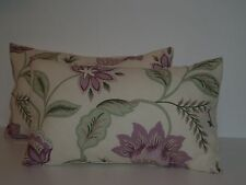 LAURA ASHLEY MILFORD GRAPE PAIR OF BOLSTER STYLE CUSHION COVERS