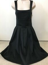 ASOS Black Sleeveless Fit & Flare Cocktail Special Occasion Dress Sz 6