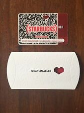 NEW Rare MINT Starbucks Card 2010 RED Jonathan Adler Ltd Edition with Sleeve
