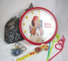 VTG MONKEY TROUBLE Movie Promo Hoop Kit CLOCK Watch Backpack Straws Keychain NEW