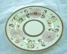 Vintage Old Castle Copper Lusterware Lustre Hand Painted Pink Daisy Plate