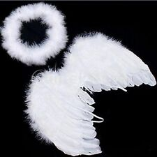 Cute Baby White Angel Wings Feather for Party Decoration And for Photo Prop - LD