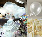 """10-100 Clear Pearl Transparent Latex Balloons Birthday Wedding Party Decor 10"""""""