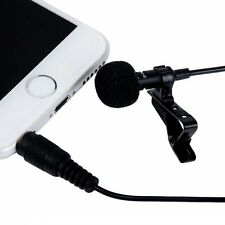 Mini Lavalier Clip-on Omni-directional Condenser Microphone for Samsung Huawei