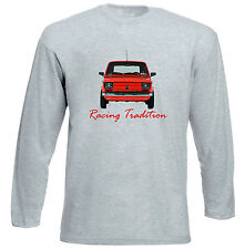 POLISH MALUCH FIAT 126P RACING - GREY LONG SLEEVED TSHIRT- ALL SIZES IN STOCK