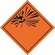 Health and Safety Hazard Sticker Explosive Symbol sticker orange