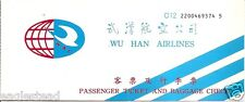 Airline Ticket - Wu Han - 2 Flight - 2001 (China) (T260)