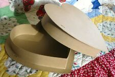 Large Paper Mache Valentine Heart Box for Crafting