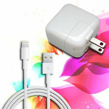 12W USB 2.4 Amp Wall Charger + 8 Pin Cable for Apple iPad Mini Air iPhone 6 6+