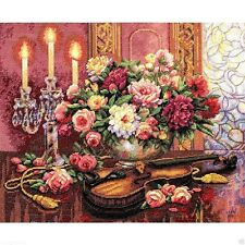 "Dimensions Gold Counted Cross Stitch kit 16"" x 13"" ~ ROMANTIC FLORAL 35185 Sale"