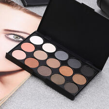 Professional 15 Colors Matte Shimmer Eyeshadow Palette Makeup Cosmetic OV