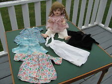 "Vintage 19"" Shirley Temple Composition Doll with some clothes Estate Find"