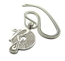 "NEW ICED OUT ROCAFELLA HIP HOP PENDANT & 4mm/36"" FRANCO CHAIN NECKLACE - XP888"