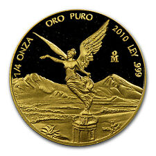 2010 1/4 oz Proof Gold Mexican Libertad Coin - SKU #65431