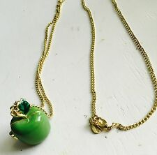 Cute Fashionable Forever 21 Claire's Apple Locket Necklace