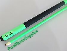 9 BALL GRAFEX FLURO HOT NEON GREEN Graphite Pool Snooker Billiard Cue 13mm Tip