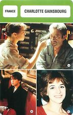 Charlotte Gainsbourg FRANCE Chanteuse  ACTRESS ACTRICE FICHE CINEMA
