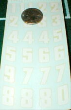 1960 Complete sheet Slot Car Racing Numbers Decals RUSSKIT #7116 1/32 & 1/24 NOS