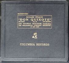 Strauss Beecham Don Quixote / Don Quichotte 5  x 78 RPM Disques NM, coffret EX+
