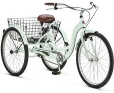 Adult Tricycle Bike Basket Schwinn Meridian Bicycle 3 Wheel Trike Mint Folding