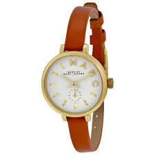 Marc by Marc Jacobs Sally White Dial Brown Leather Ladies Watch MBM1351