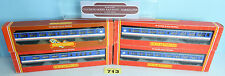 HORNBY 'OO' RAKE OF 4 NETWORK SOUTHEAST MK2 2ND OPEN & BRAKE COACHES BOXED #713Y