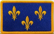 PARIS Île-de-France Flag Iron-On Patch  Isle of France Emblem Gold Border
