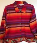 TANTRUMS Artsy Boho Jacket/Multi-Colored Embroidered Jacket Size Large