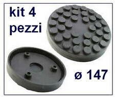 Set 4 TAMPONI GOMMA con PIOLI diametro 147 MM. per  PONTE SOLLEVATORE  A BRACCI