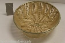 12 EACH Plastic ROUND FOOD BASKET CHIP BREAD SANDWICH FRENCH FRY - NATURAL WEAVE